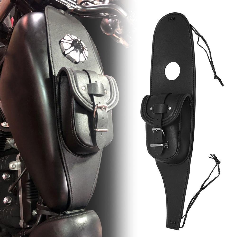 bolsa para tanque de motocicleta bolsa preta para guardar tanque de gas embalagem de couro para