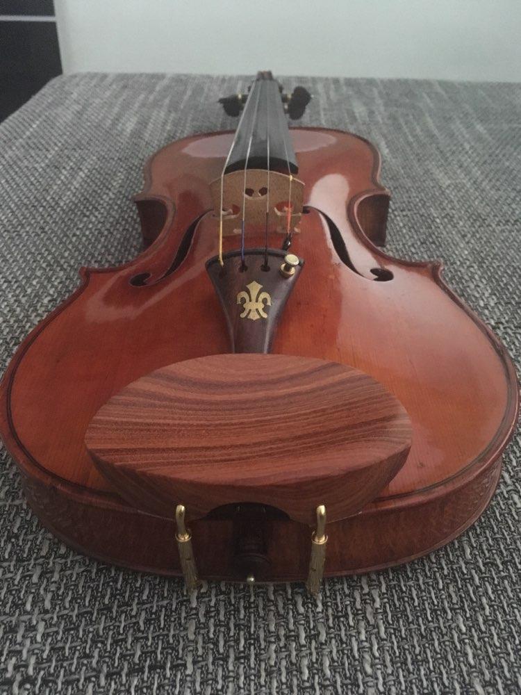 Great 1pcs Natural Rosewood Violin Chinrest 4/4,3/4,1/4,1/2,1/8,violin Parts
