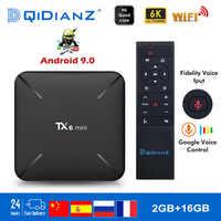 Tanix TX6 mini Smart TV Box z systemem android 9.0 Allwinner H6 2G + 16G 2.4GHz WiFi wsparcie 4K H.265 Odbiornik TV Netflix Set-top Box TX6mini