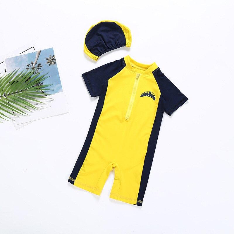 KID'S Swimwear Men And Women Children Shark Sun-resistant Long Sleeve Onesie Big Boy Swimming Quick Service Swimwear