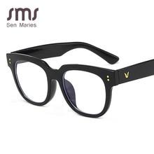 New Black Small Flat Mirror Vintage Brand Anti-blue Radiation Glasses For Women Men Goggles Clear Regular Gaming Goggles Eyewear