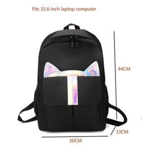 Image 5 - New Kids Backpack Girls Boy Children Teenagers Student School Backpacks For Girl Cute Cat Ear Backpack Schoolbag Cartable Enfant