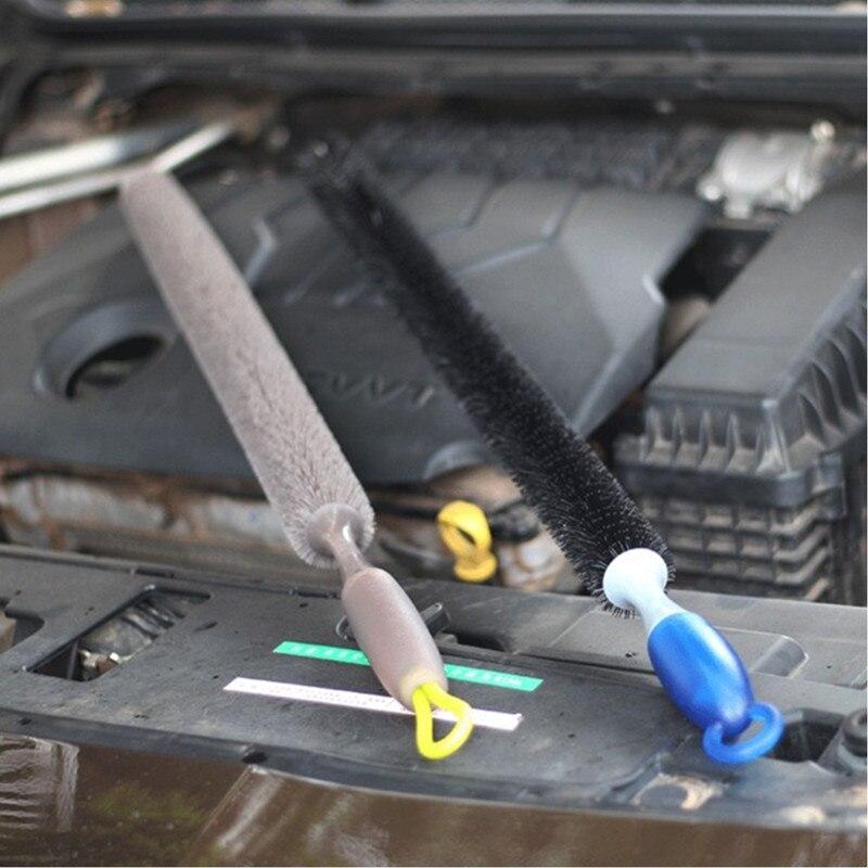Multi-Function Long Handle Car Brush Engine Cleaning Brush Bendable Wheel Brush For Car Cleaning Auto Washing Car Detailing