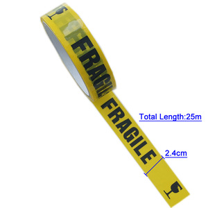 Image 2 - 1/Roll 24mm*25m Warning Tape Danger Caution Fragile Barrier Remind DIY Sticker Work Safety Adhesive Tapes For Mall Store School