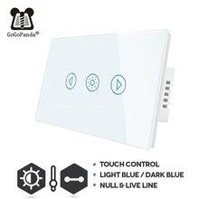 US Standard Touch Dimmer Switch 1 Gang Wall Light Adjust Light Waterproof Switch Touch Control Lighter Darker