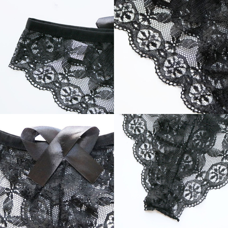 Amazing Women Lingerie G String Lace Underwear Femal Sexy T-back Thong Sheer Panties 2020 Style Hot Sale Transparent Knickers