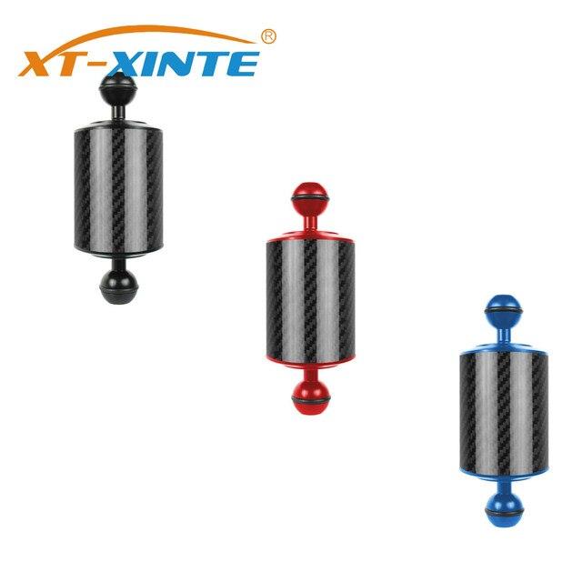 XT XINTE คาร์บอนไฟเบอร์ EXTENSION ถาด ARM FLOAT ลอยน้ำ ARM Dual Ball SLR กล้องสำหรับดำน้ำสำหรับ GoPro Yi EKEN สำหรับ DJI OSMO
