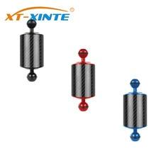 XT XINTE bandeja de extensão fibra carbono braço flutuador flutuabilidade braço aquático dupla bola slr câmera mergulho para gopro yi eken para dji osmo