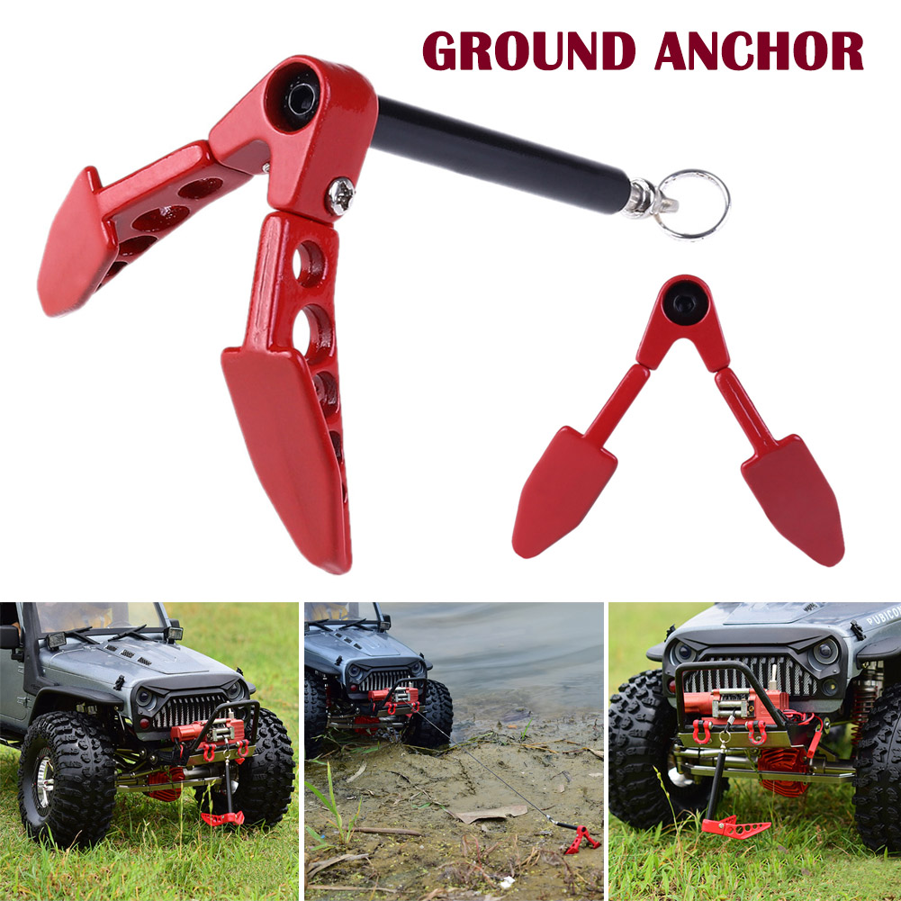 Hot Sale Metal Foldable Winch Anchor Earth For 1/10 Axial SCX10 Tamiya CC01 RC4WD D90 D110 RC Crawler Car