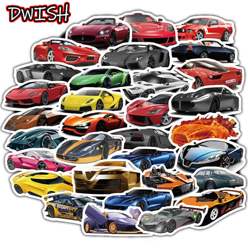 50pcs/Pack Waterproof Fashion Car Stickers Guitar Suitcase Motorcycle Skateboard Girls Children Funny Sticker Kids Classic Toy