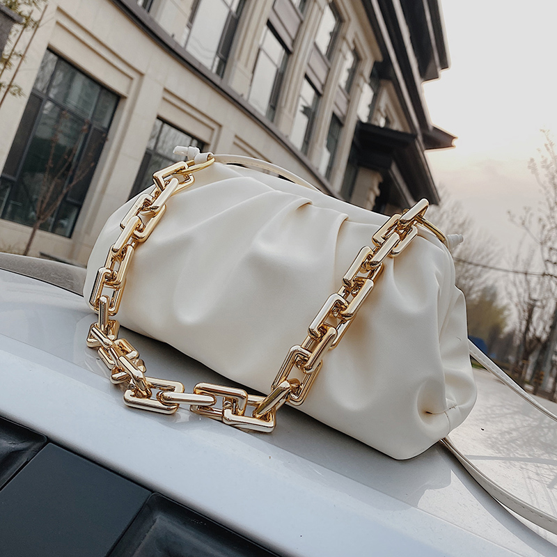 Chain Shoulder Bags for Women 2021 Luxury Solid Color Cross Body Bag Female Crossbody Bag Travel Handbags Lady Party Clutch