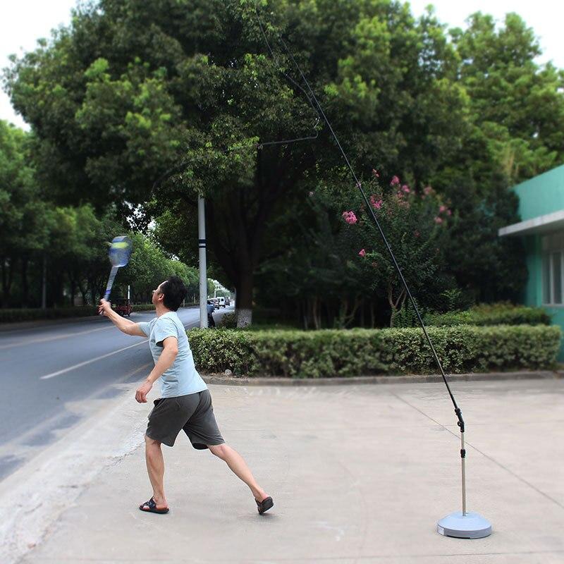 Single Badminton Trainer Robot Portable Prefessional Stretch Badminton Training Adult Children Self-study Training Practice Tool