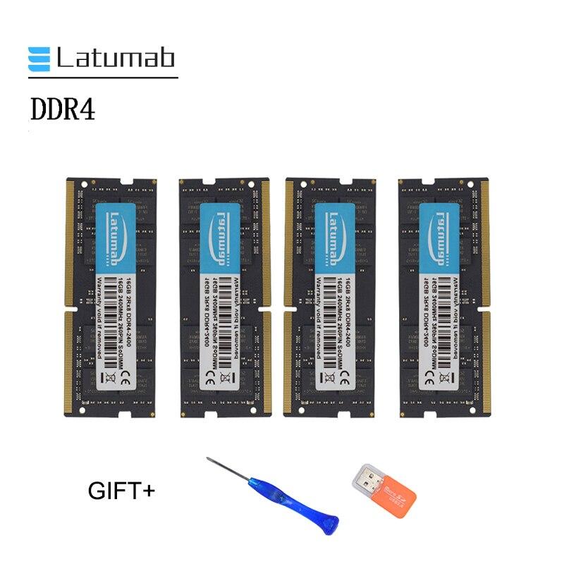 Latumab New 8GB 16GB 32GB DDR4 2400mhz 2133mhz Laptop Memory So Dimm Memory Ram 260 Pins Notebook Module SODIMM DDR4 RAM