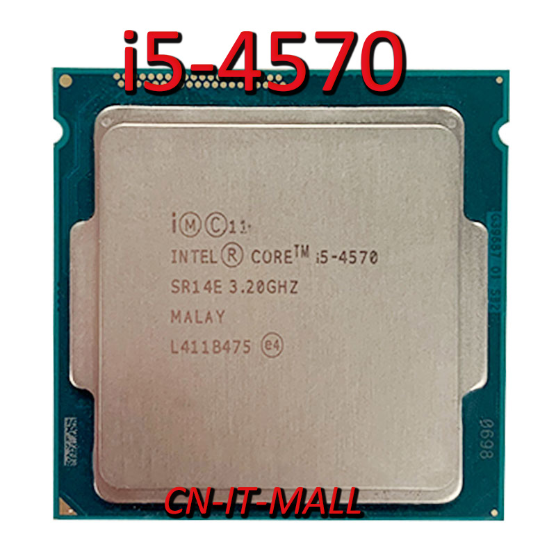 <font><b>Intel</b></font> Xeon <font><b>i5</b></font>-<font><b>4570</b></font> CPU 3.2GHz 6MB Cache 4 <font><b>Cores</b></font> 4 Threads LGA1150 Processor image