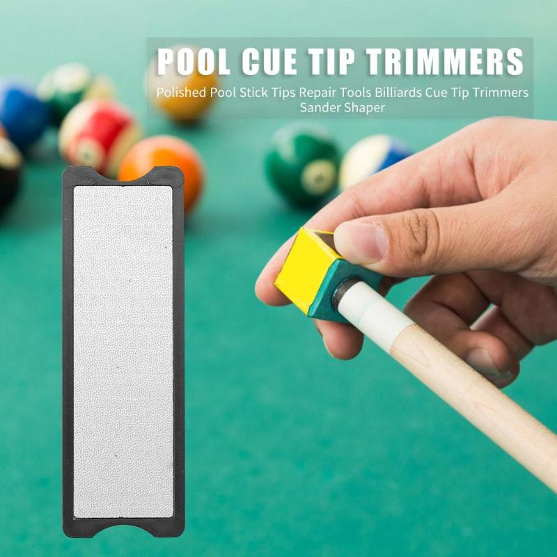 3 in 1 Billiards Stick Tips File Polished Tools Portable Cue Tip Trimmers Double-<font><b>sided</b></font> <font><b>Sander</b></font> Pool Accessories image