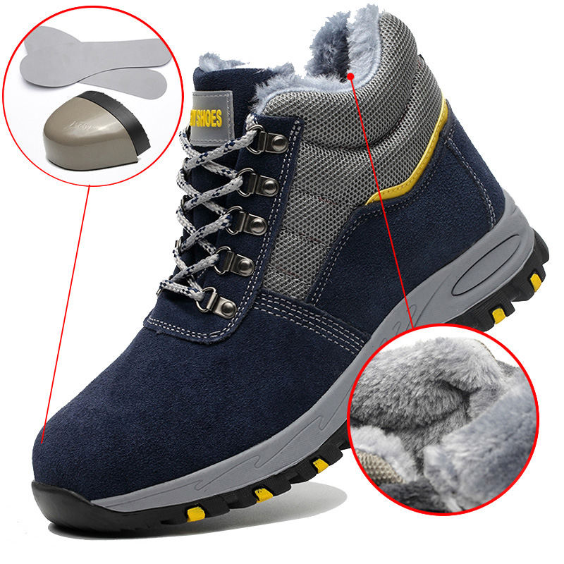 Work Safety Boot Men Shoes Anti-smashing Safety Shoes Men Work Boot Outdoor Men Shoes Non-slip Construction Protective Shoes