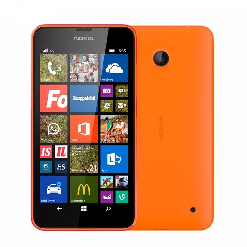 "Nokia Lumia 635 мобильный телефон Windows OS 4,"" четырехъядерный 8G rom 5.0MP wifi gps 4G LTE разблокированный мобильный телефон - Цвет: Orange"