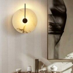 Nowoczesne marmurowe lampa ścienna Led osobowości ściany domu dekoracji 220V nocna sypialnia lampki przejściach i korytarzach kinkiet ścienny do montażu powierzchniowego darmowa wysyłka