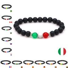 Beaded Bracelet Jewelry Spain Romania Germany Natural-Stone Black for Men France 8mm