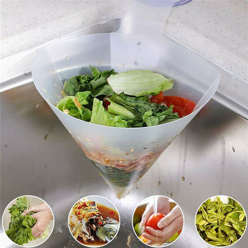 Filter For Kitchen Self-standing Foldable Sink Stopper Anti-Blocking Device PVC Strainers Food Holder Kitchen Sink Accessories