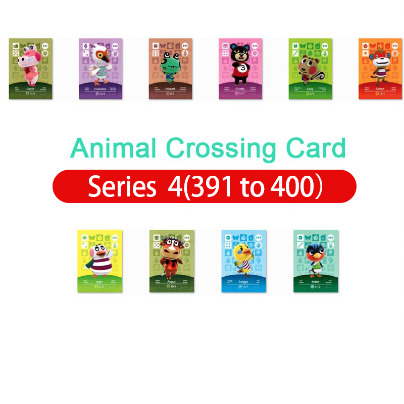 Animal Crossing Amiibo Card Amiibo Card Animal Crossing Series 4 Nfc Card 391 To 400 Work For Ns Games Fast Shipping