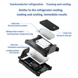 Image 4 - טלפון נייד Cooler עבור Smartphone אנדרואיד Huawei Xiaomi Sumsung iPhone מקרה PUBG משחק קירור זרוק טמפרטורת רדיאטור