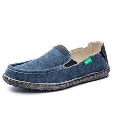 2021 Summer Men Canvas Shoes Espadrilles Breathable Casual Shoes Men Loafers Comfortable Ultralight Lazy Boat Shoes Big Size 48