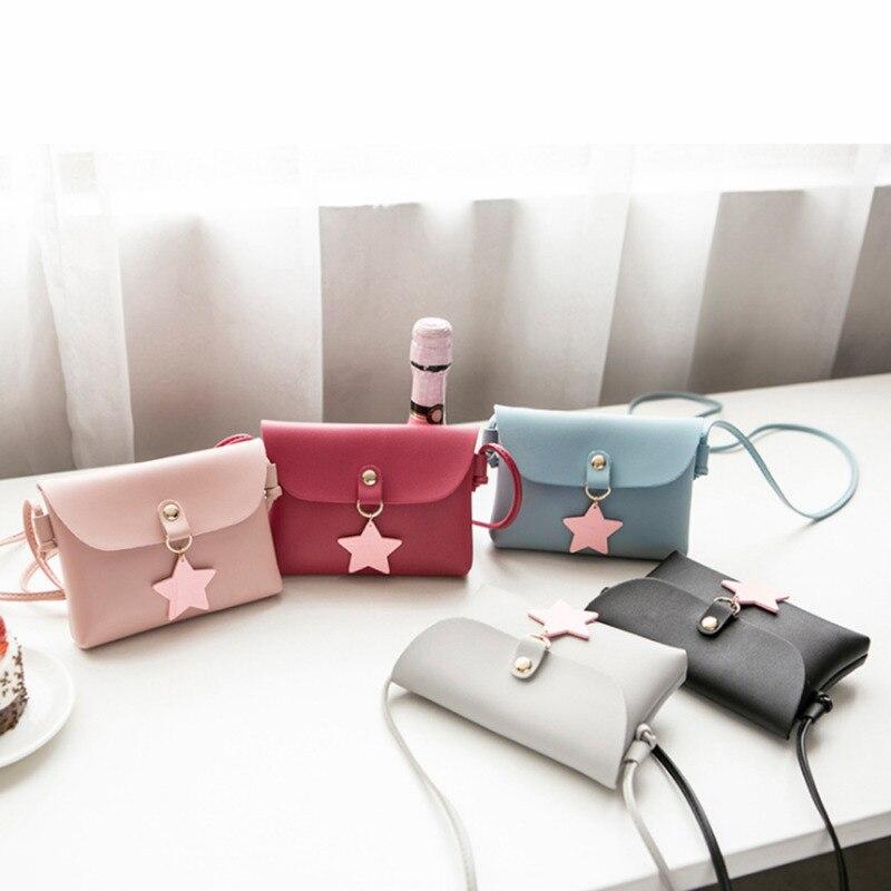 2019 Sweet Kids Girls Casual PU Crossbody Bag Mini Purse Bag Shoulder Messenger Bag Handbag Satchel Bags 5 Colors
