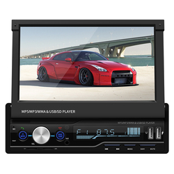 Portable new telescopic car 7 inch Mp4 bluetooth  player support MP3 FM GPS navigation system Music player phone charging