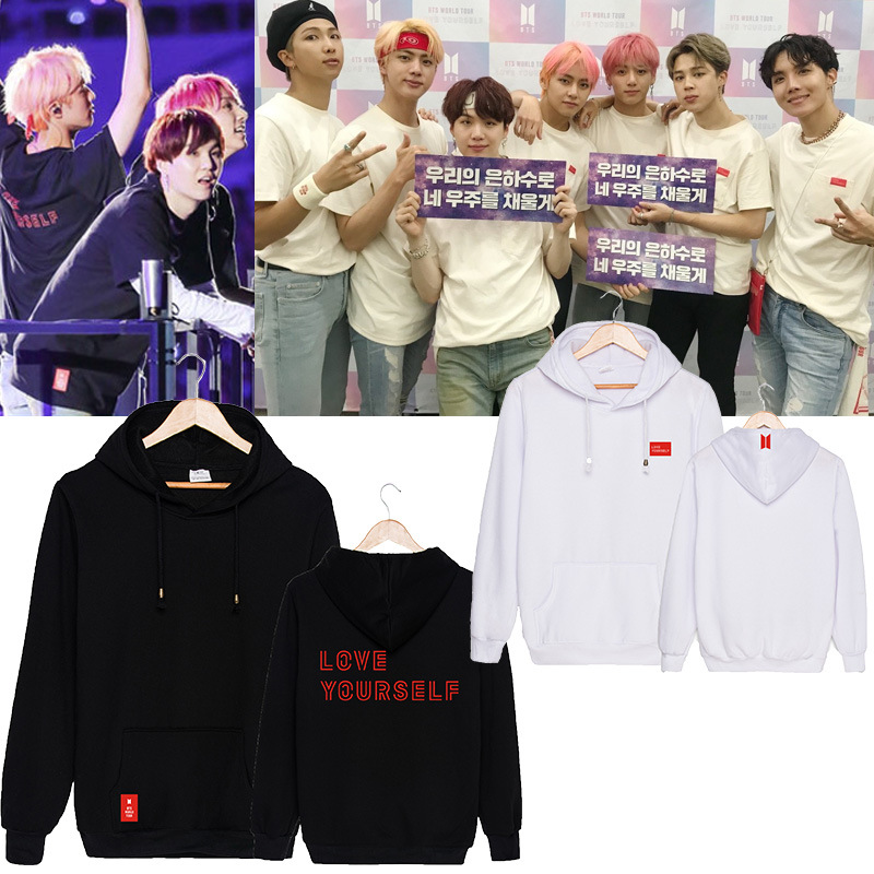 Bulletproof Boys Bts Love Yourself World Tour Concert Related Products Should Aid Celebrity Style Hoodie