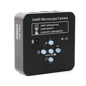 Image 4 - 3.5X 90X Simul Zoom Focal Microscope stéréo trinoculaire + bras articulé pilier pince + 34MP 1080P HDMI USB caméra vidéo + 144 lumière