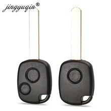 Jingyuqin 1/2 botões caso chave remota para honda CR-V odyssey ajuste, cidade c-ivic acordo com almofada de botão