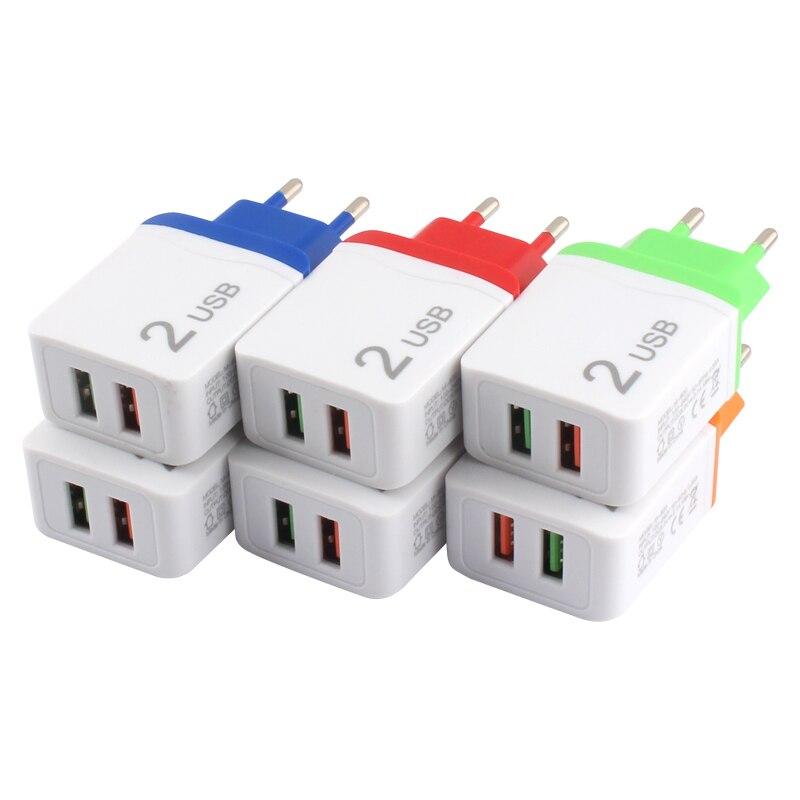 Универсальный адаптер питания 5 В переменного тока, 5 В, 2 А, двойной мобильный телефон, зарядное устройство USB, адаптер питания 220 В в 5 В, европ...