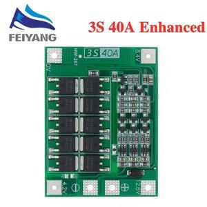 Image 2 - 3S 40A Li ion cargador de batería de litio Módulo de célula Lipo PCB Placa de protección BMS para Motor de taladro 12,6 V con Balance