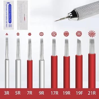 50pcs Round needles Microblading Needles Fog Eyeborw Permanent Makeup Blade Shading  Eyebrow Tattoo Needle for manual pen - discount item  30% OFF Tattoo & Body Art