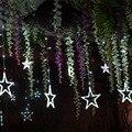 3 м светодиодный Рождественский светильник s  уличный Сказочный светильник s  СВЕТОДИОДНАЯ Гирлянда-занавеска со звездами для вечеринок  сва...