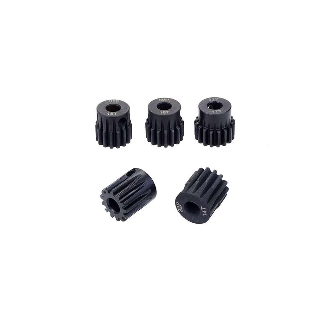 SURPASS HOBBY 5Pcs 32DP 5mm 13T 14T 15T 16T 17T 20T 21T Metal Pinion <font><b>Motor</b></font> <font><b>Gear</b></font> Set for 1/8 <font><b>RC</b></font> Car Truck Brushed <font><b>Brushless</b></font> <font><b>Motor</b></font> image
