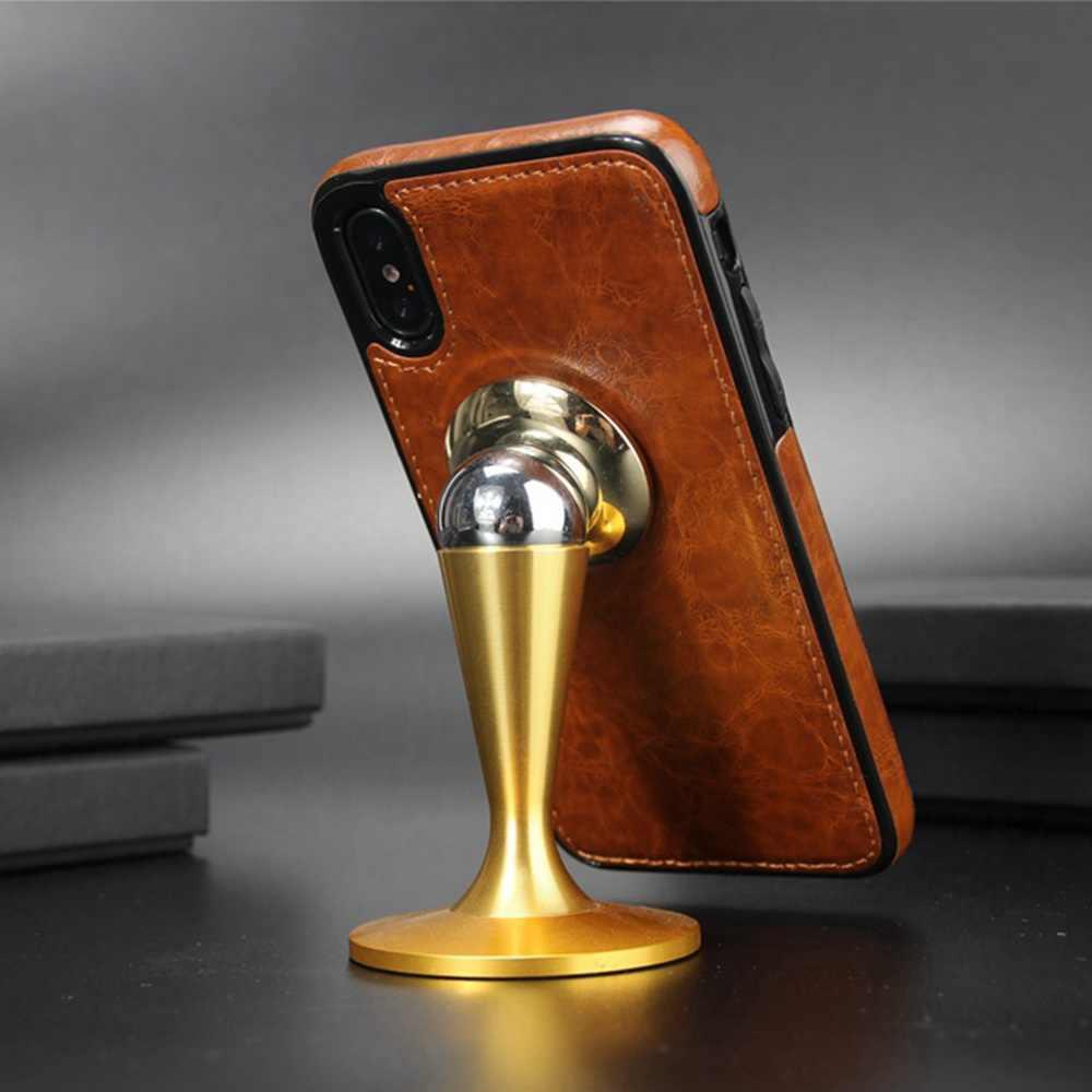 KISSCASE מגנטי עור מקרה עבור iPhone 6s 6 7 8 בתוספת 5 S 5 SE יוקרה בציר טלפון מקרה עבור iphone X 10 XS Max XR כיסוי Fundas
