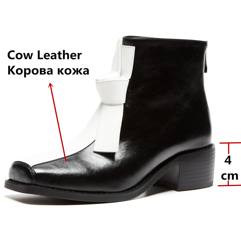 Image 3 - FEDONAS New Comfortable Western Boots Party Office Shoes Woman Quality Genuine Leather Women Ankle Boots Winter Warm High Heels-in Ankle Boots from Shoes