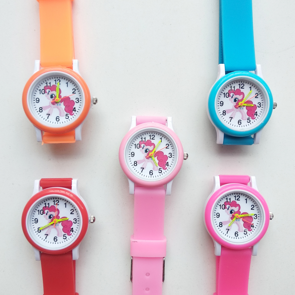 Cartoon Rainbow Horse Style Round Dial Children's Watches Kids Watch Student Boys Girls Clock Women Quartz Wrist Watch Baby Toy