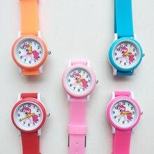 Cartoon Rainbow horse Style Round Dial Children's Watches Kids Watch