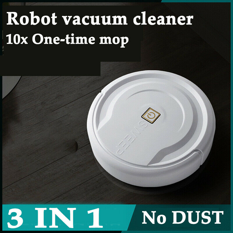 3 In 1 White Self Navigated Smart Robot Vacuum Cleaner Automatic Sweeper Sensor Edge Sweep Wet Mop Automatic Dry Wet Sweeping