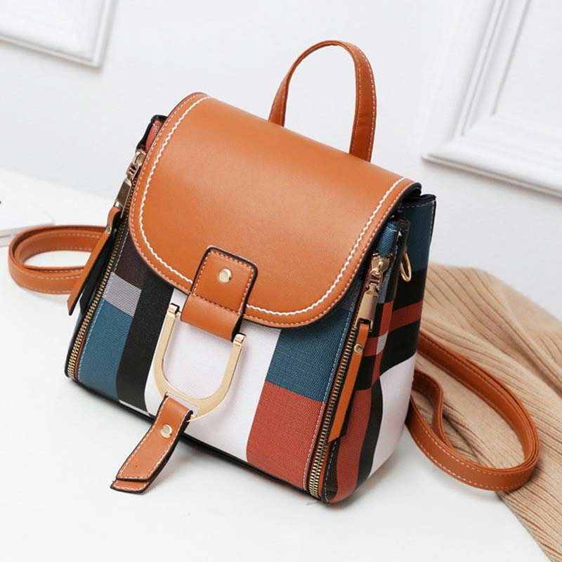 New Multifunction Backpack Fashion Women Backpack Leather School Bags Backpack Vintage Shoulder Bags Sac A Dos Mochila B42-73