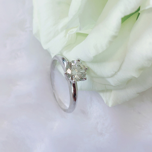 Image 4 - 925 sterling silver ring 1ct 2ct 3ct Classic style Diamond jewelry Moissanite ring Wedding Party Anniversary Ring For Women