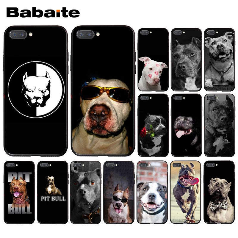Babaite Black White Pit Bull Lovely Pet Dog Pitbull Phone Case for Huawei Honor 8X 9 10 20 Lite 7A 8A 5A 7C 10i 20i View20 image