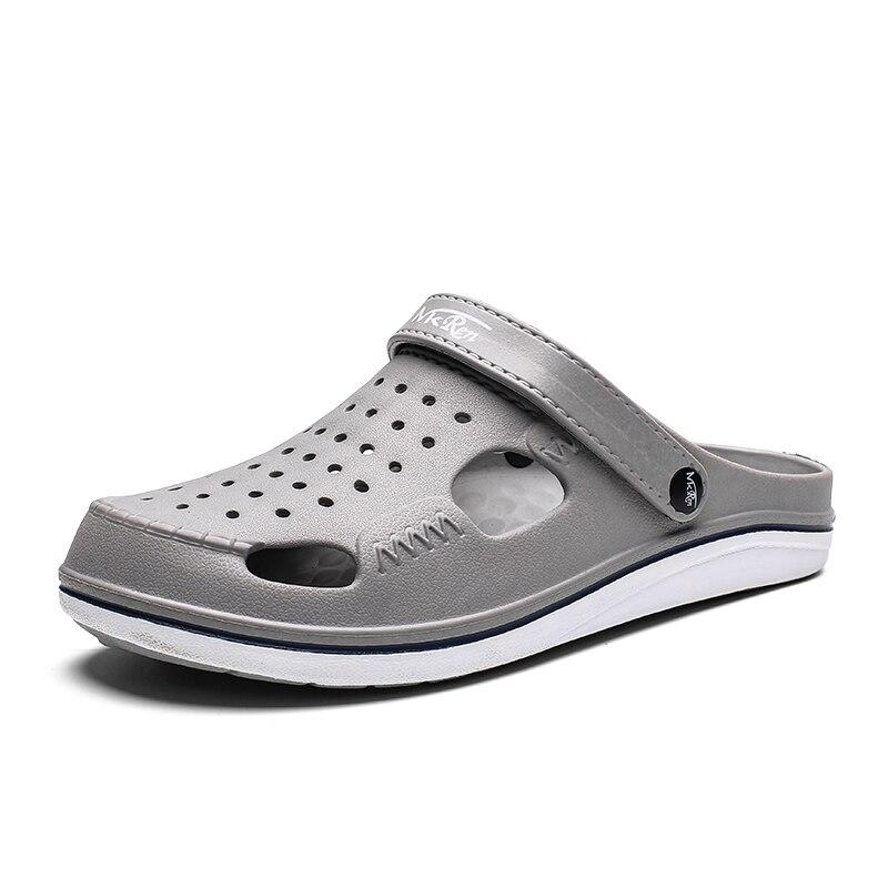 YOUQIJIA marque Croc hommes noir jardin décontracté Aqua sabots chaud mâle bande sandales été diapositives plage natation chaussures grande taille 39-45