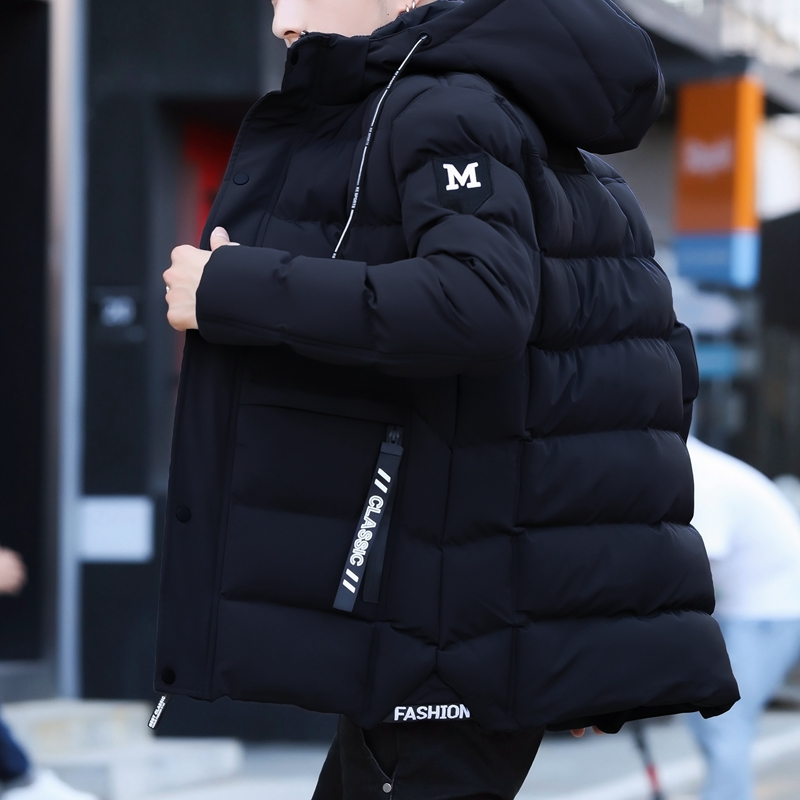 Winter Mens Parka Solid Jacket Streetwear New Arrival Thick Warm Coat Long Hooded Jacket Fur Windproof Padded Coat Fashion Men