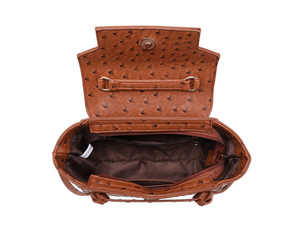 Image 5 - HIGHREAL New Customized Luxury Brand Design Women Ostrich Leather Tote Bag Clutch Tote Shoulder Bag Trendy Bag