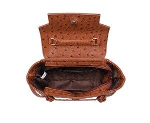 Image 5 - Highreal新しいカスタマイズされた高級ブランドデザインの女性のオーストリッチ革トートバッグクラッチトートショルダーバッグトレンディバッグ