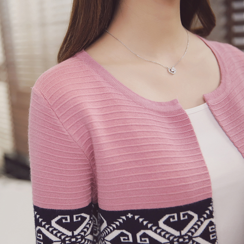 Women Knitted Cardigan Sweaters Coat Women's Sweater Top Feminine Clothes Long Sleeve Warm Jacket Korean Style Autumn Winter 10
